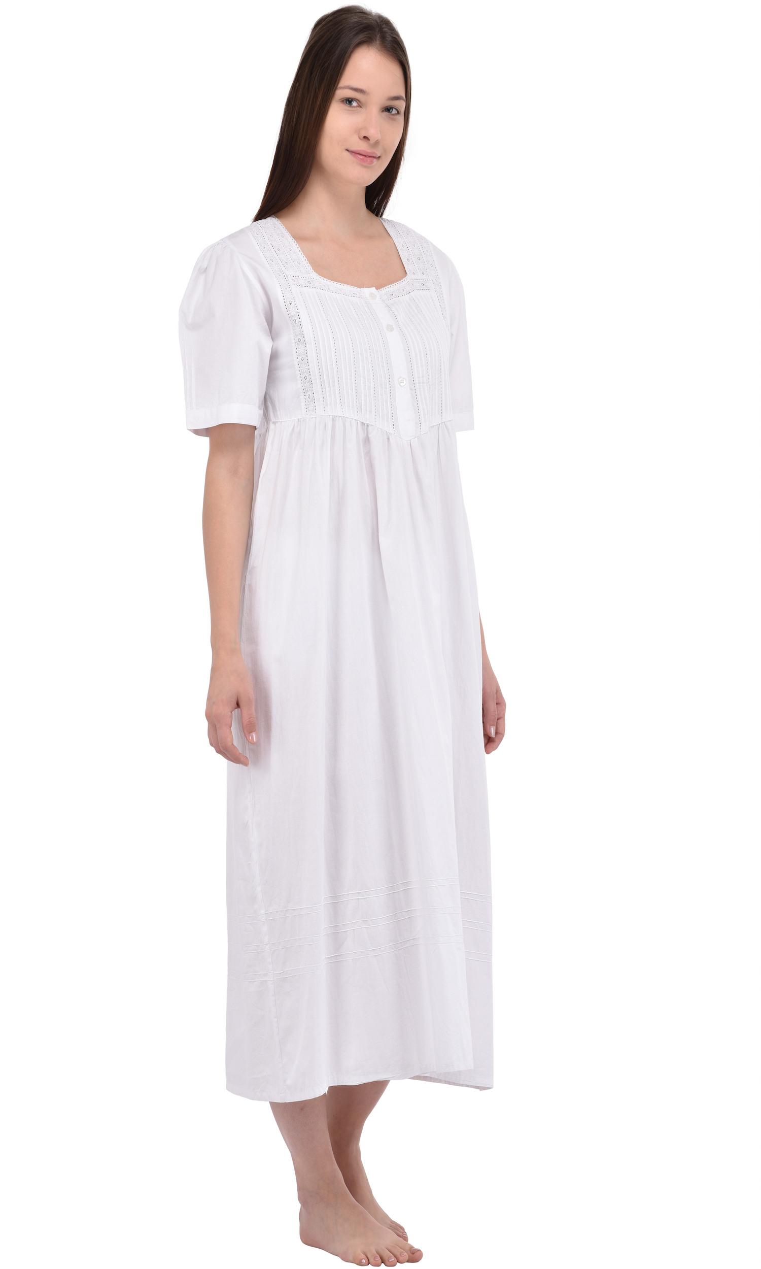 0ff3569670 Plus Size Nightie | Plus Size Long Cotton Nightdress | Cotton Lane ...