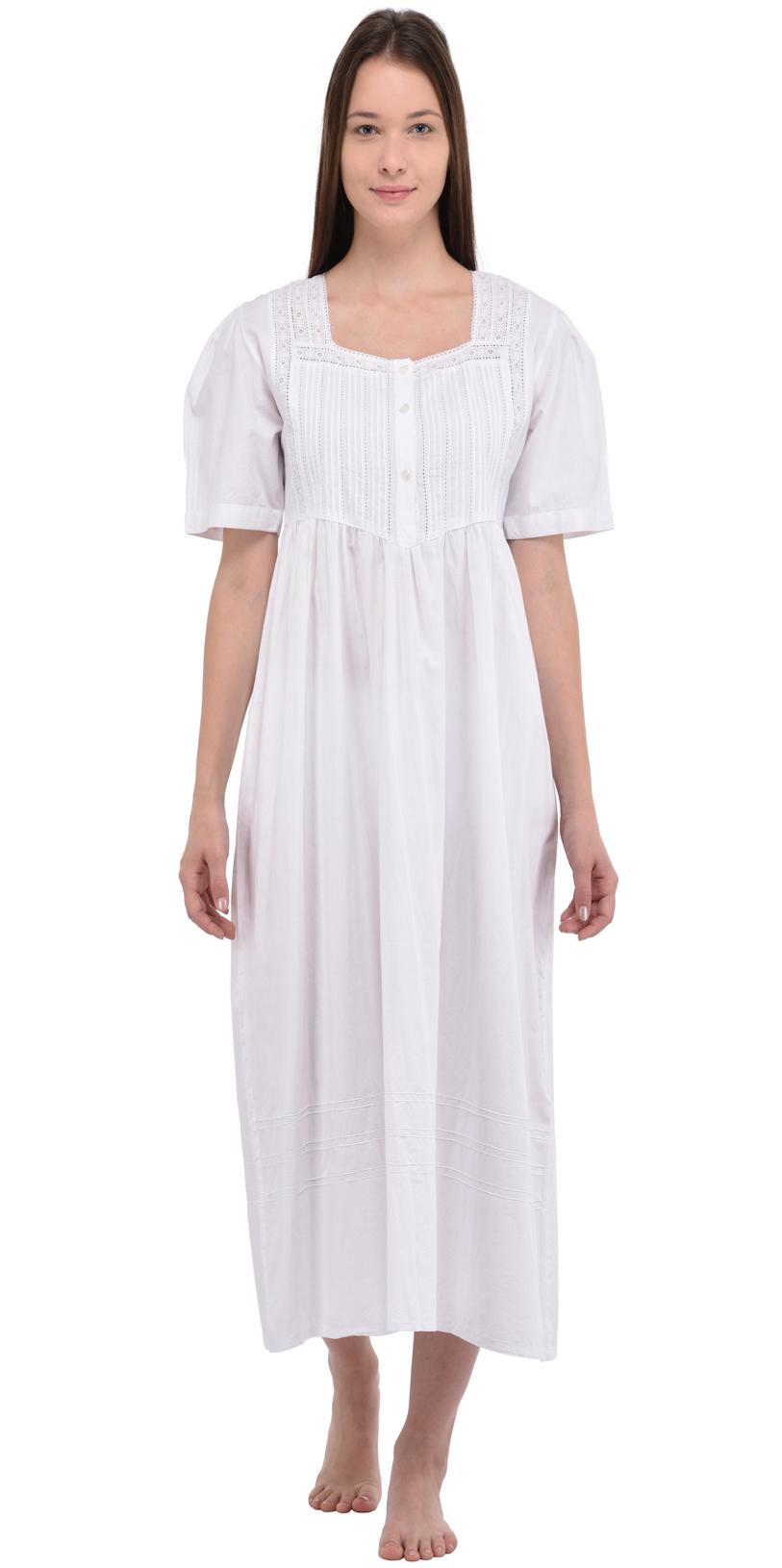 0ff3569670 Plus Size Nightie | Plus Size Long Cotton Nightdress | Cotton Lane ...