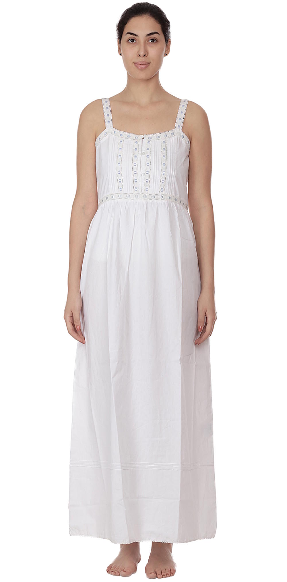 b8d7473114 White Cotton Victorian Vintage Nightdress | Cotton Lane | COTTON LANE