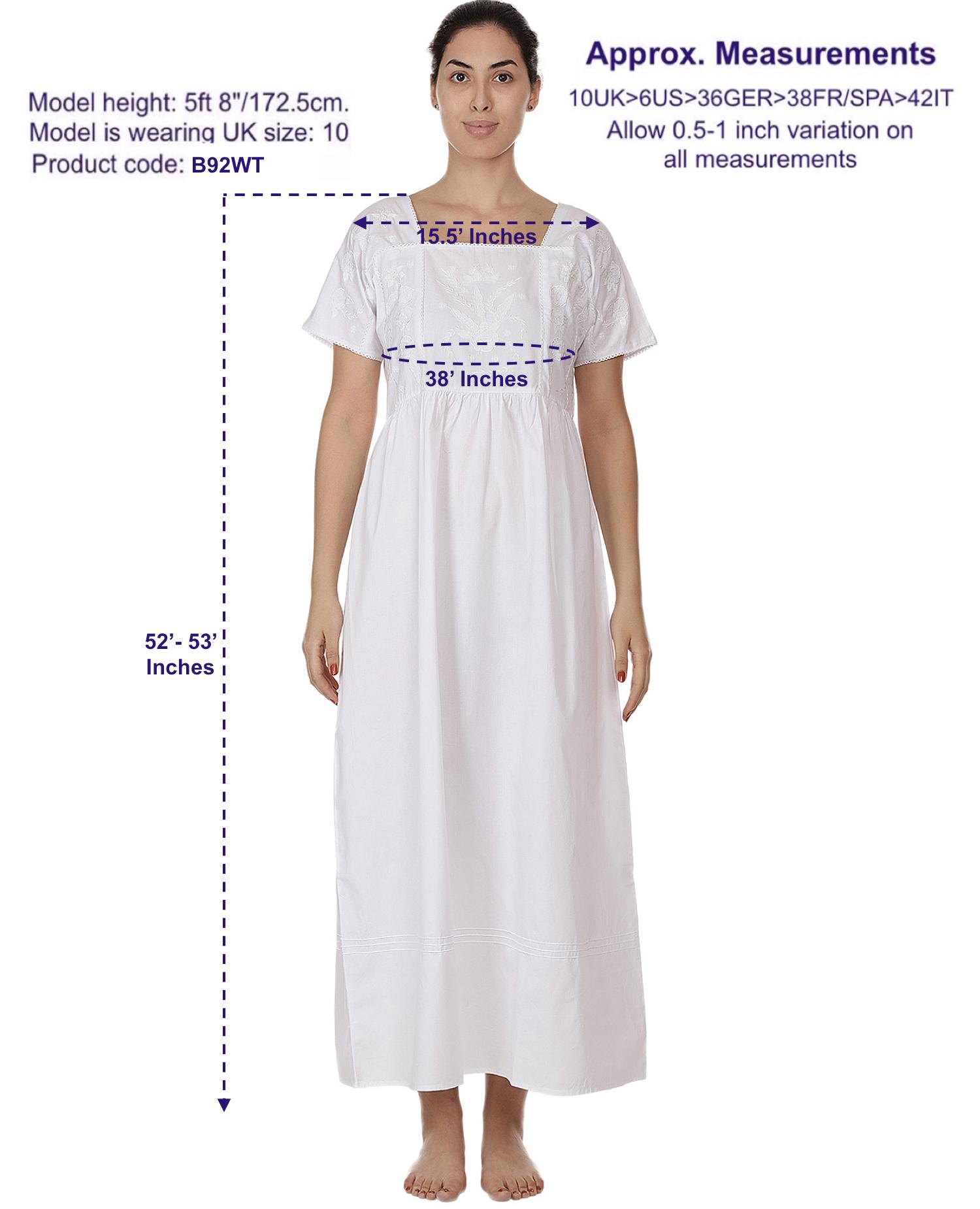 Classic Cotton Dress/Nightdress Plus Size – Cotton Lane – London