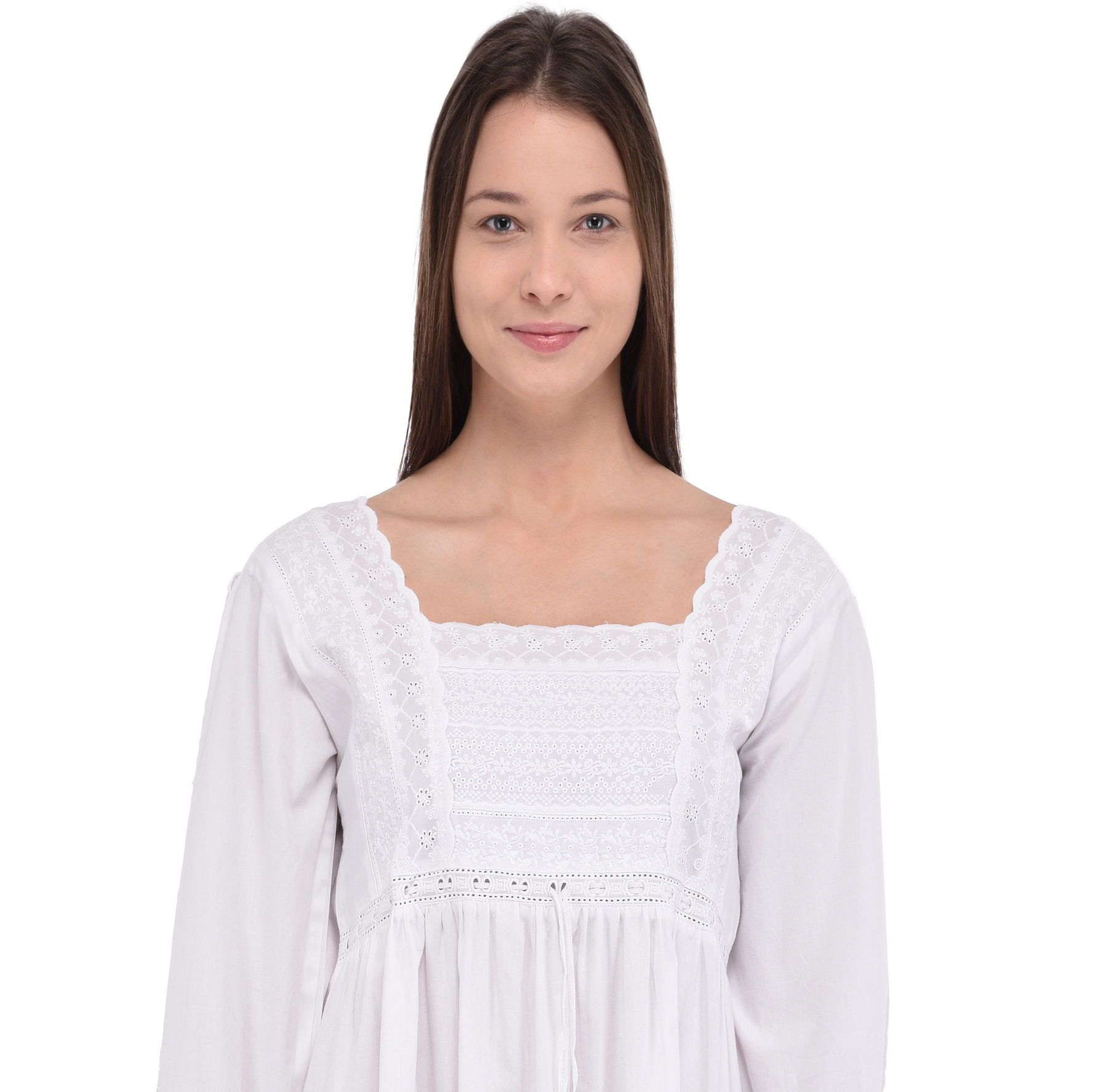 Pure Cotton White Cotton NightdressCotton Lane