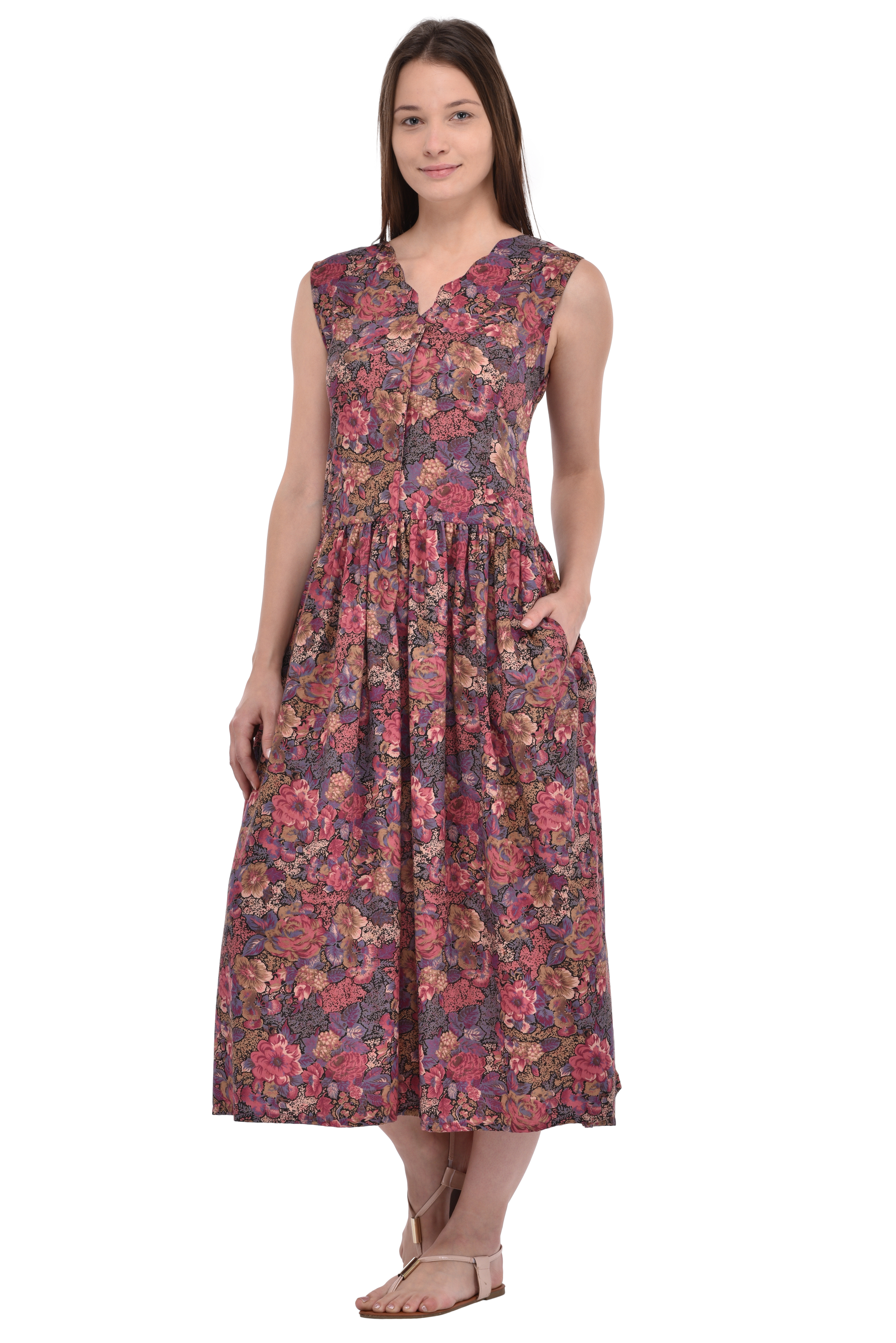 Sleepwear & Robes Cotton Lane Choice Materials Pure Cotton Printed Sleeveless Nightdress Clothing, Shoes & Accessories