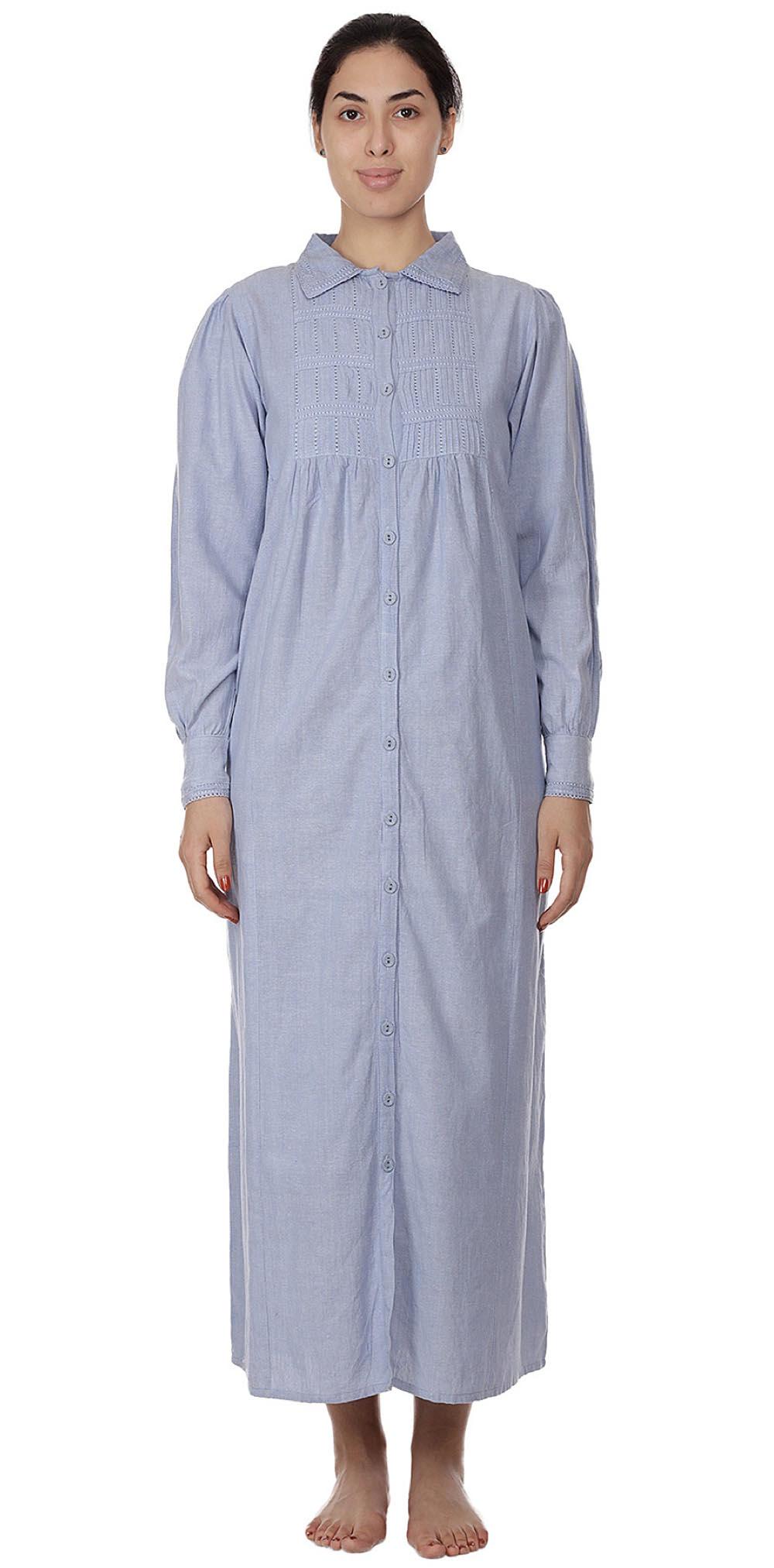 Plus Size Chambray Nightgown   Cotton Lane